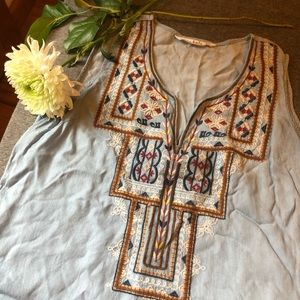 Dresses & Skirts - Boho-style Embroidered Sun Dress
